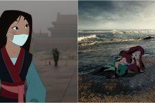 10 Ilustrasi gambarkan nasib karakter Disney jika hidup zaman sekarang
