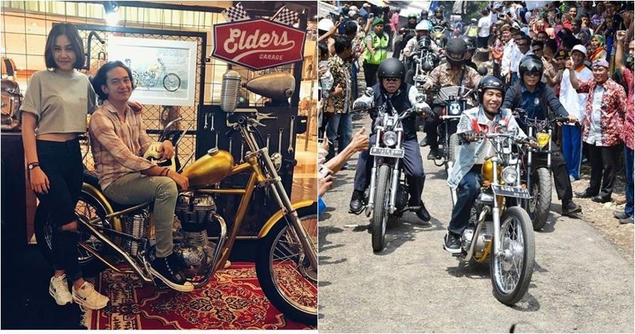 Adipati Dolken beli motor custom chopperland, sama persis punya Jokowi