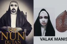 10 Kreasi dandan ala Valak di film The Nun ini bikin gagal seram