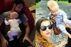 Jadi orangtua baru, ini 8 potret Gaston Castano bareng baby Gaetano