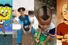 7 Cocoklogi gaya rambut cowok dan tokoh kartun, dijamin bikin geli