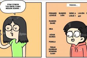7 Komik strip beda kehidupan cowok dan cewek, ada benarnya