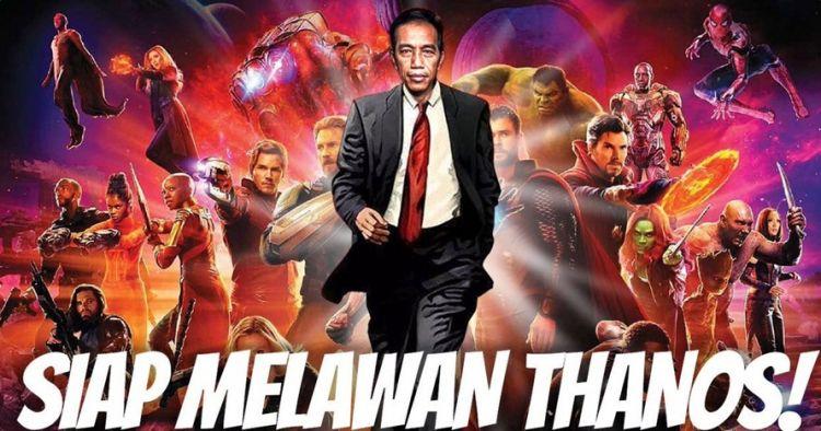 8 Meme kocak #JokowiVSThanos kreasi warganet, bikin fans Marvel ketawa