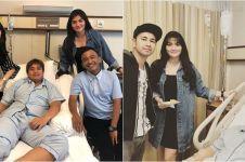 5 Momen para seleb jenguk Billy Syahputra, berikan dukungan