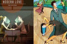 8 Ilustrasi ini sindir kenyataan cinta zaman now, nampol abis