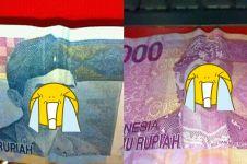 10 Kreasi tekuk uang ini bikin ekspresi gambar pahlawannya jadi konyol