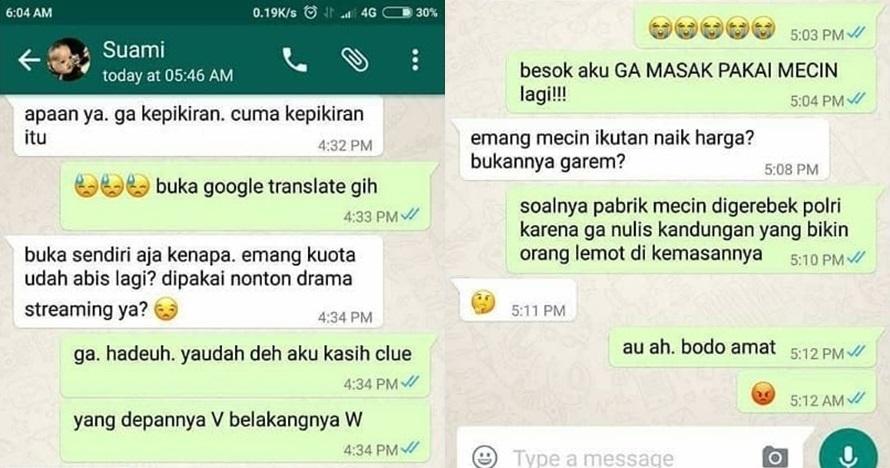5 Chat istri pengen gombalin suami ini kocaknya bikin gagal mesra