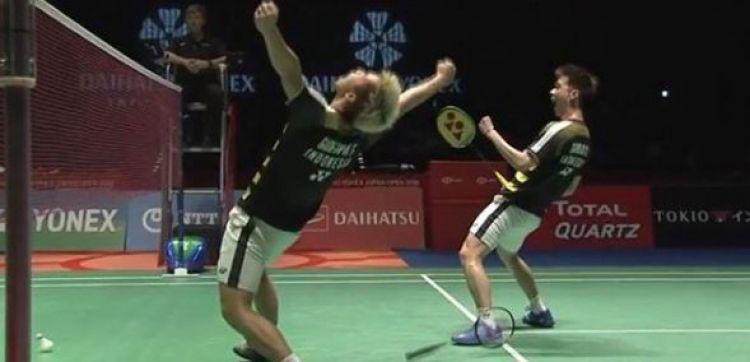 Libas pasangan China, Marcus/Kevin rebut juara Japan Open 2018