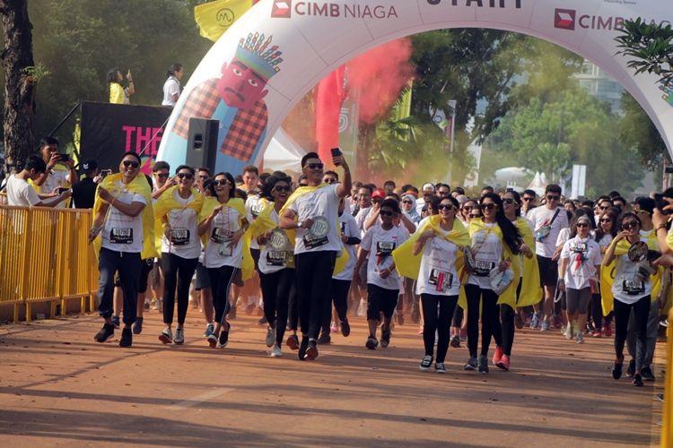 Begini serunya The Color Run yang bikin Jakarta bertabur warna
