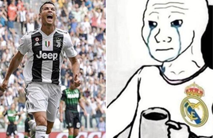 10 Meme gokil merayakan gol perdana Cristiano Ronaldo di Juventus