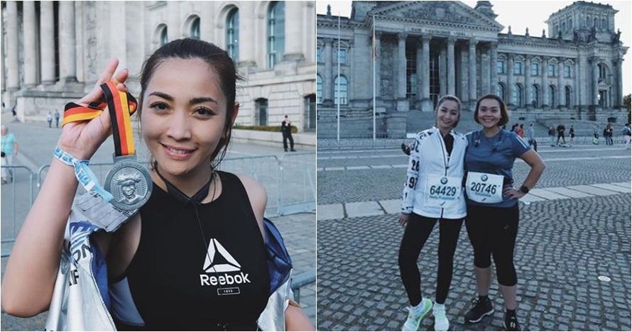 6 Momen Hesti Purwadinata ikut Berlin Marathon 2018, hampir gagal lho