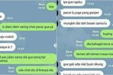 6 Chat labrak sahabat yang nikung pacar ini endingnya nggak terduga