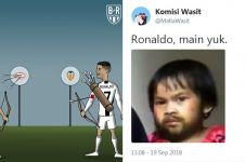 10 Guyonan Ronaldo kena kartu merah ini nyeseknya sampai ke Turin