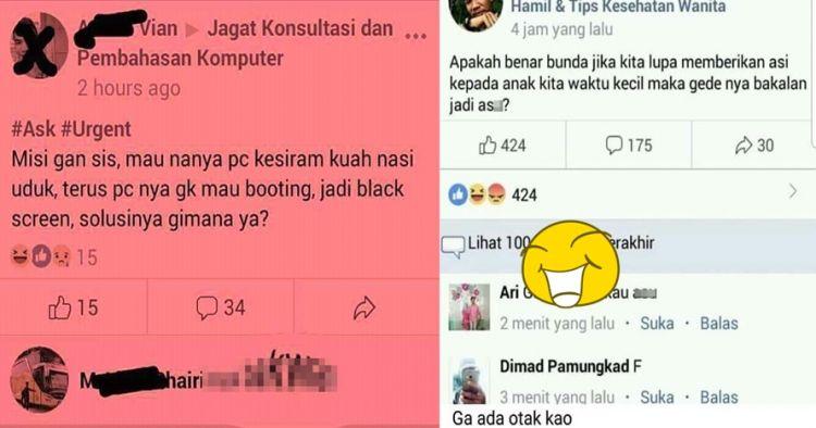 10 Pertanyaan kocak di grup Facebook ini bikin anggotanya auto left