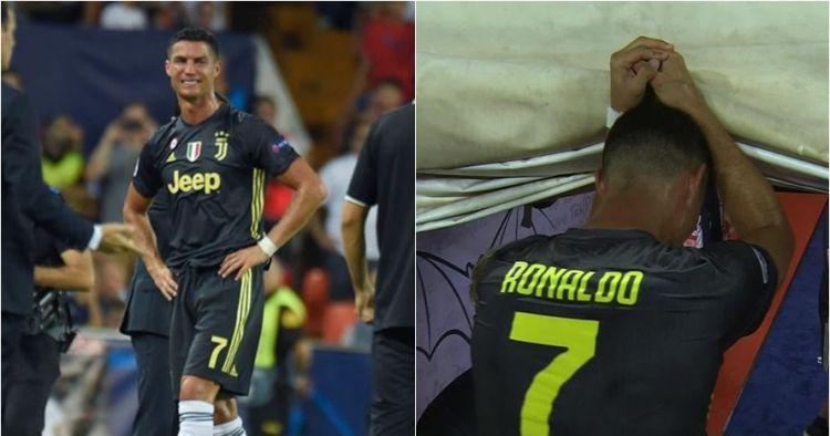 Terlihat sedih, ini ternyata yang dikatakan Ronaldo usai dikartu merah