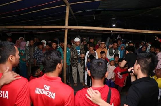 atlet kunjungi lombok © Instagram/@nahrawi_imam & @hanifan_yk