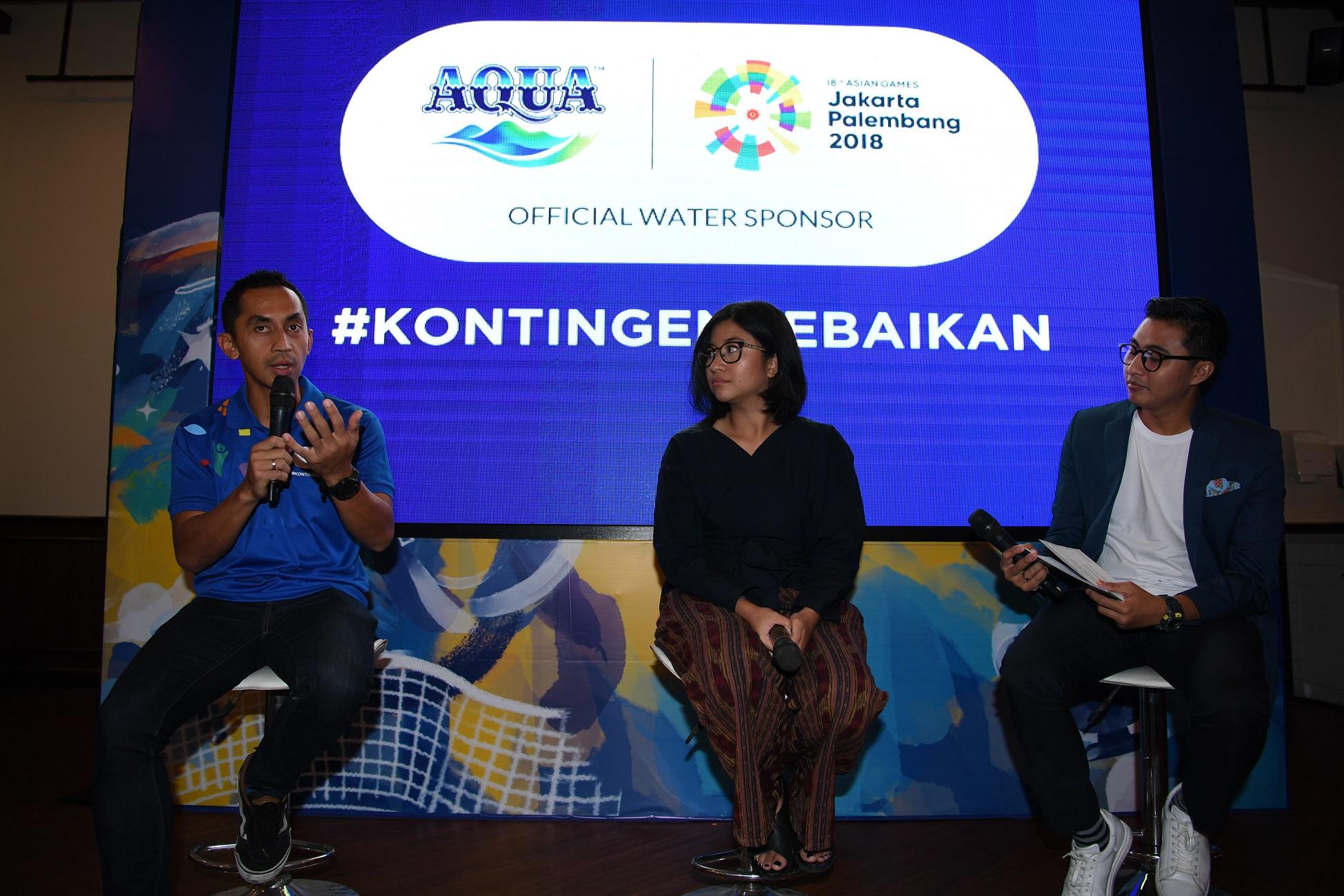 Perusahaan air mineral ini kumpulkan 17 ton sampah plastik Asian Games