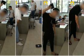 Ketahuan main HP saat pelajaran, 2 siswa banting ponsel di depan kelas