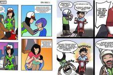 10 Komik strip polisi ini bikin kamu langsung taat berlalu lintas