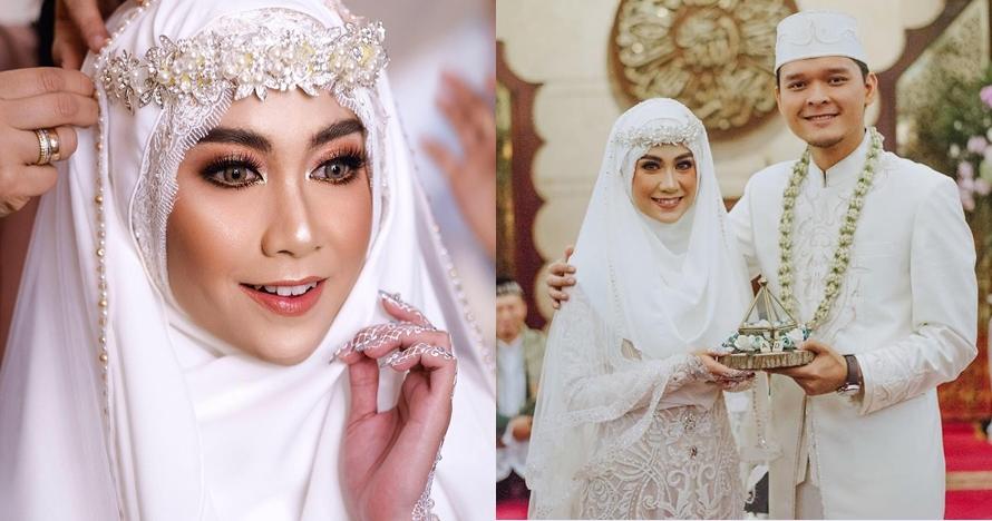 8 Inspirasi gaun pengantin seleb berhijab, tradisional sampai modern