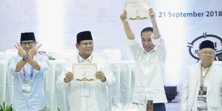 Nomor urut Jokowi di 4 pemilu vs Prabowo di 2 pemilu, hasilnya kontras