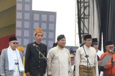Adu penampilan koalisi Jokowi & Prabowo saat deklarasi kampanye damai
