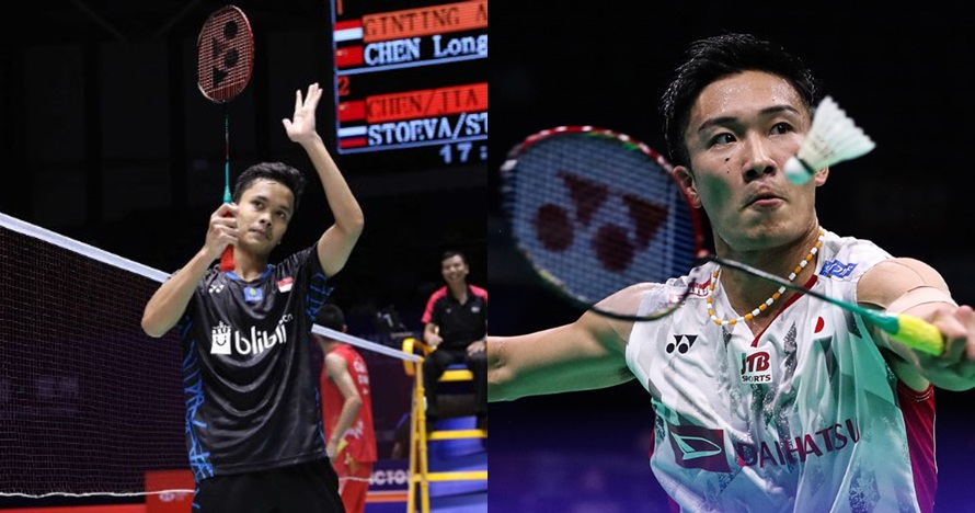 Ini perbandingan raket Anthony Ginting vs Kento Momota di China Open
