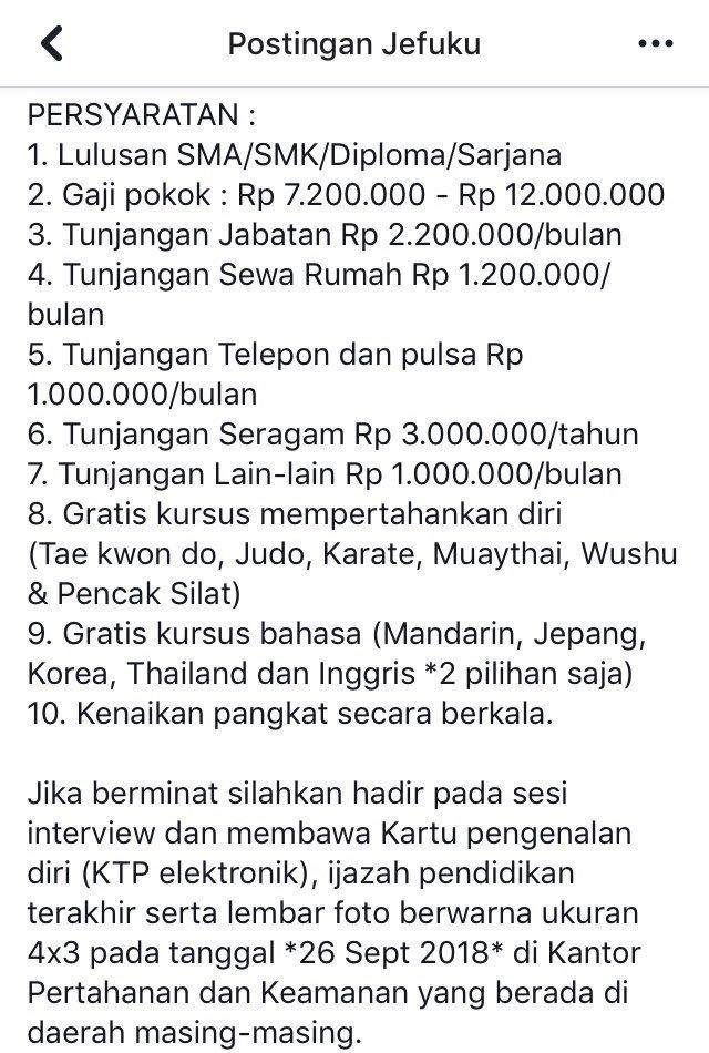 info loker tepuk jidat © Twitter/@juriglagu