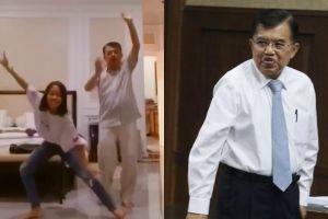Bikin video Tik Tok, Jusuf Kalla joget bareng cucunya yang gemesin