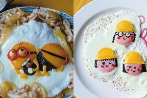 Cuma dari telur setengah matang, 10 karya ini kreatifnya bikin kagum