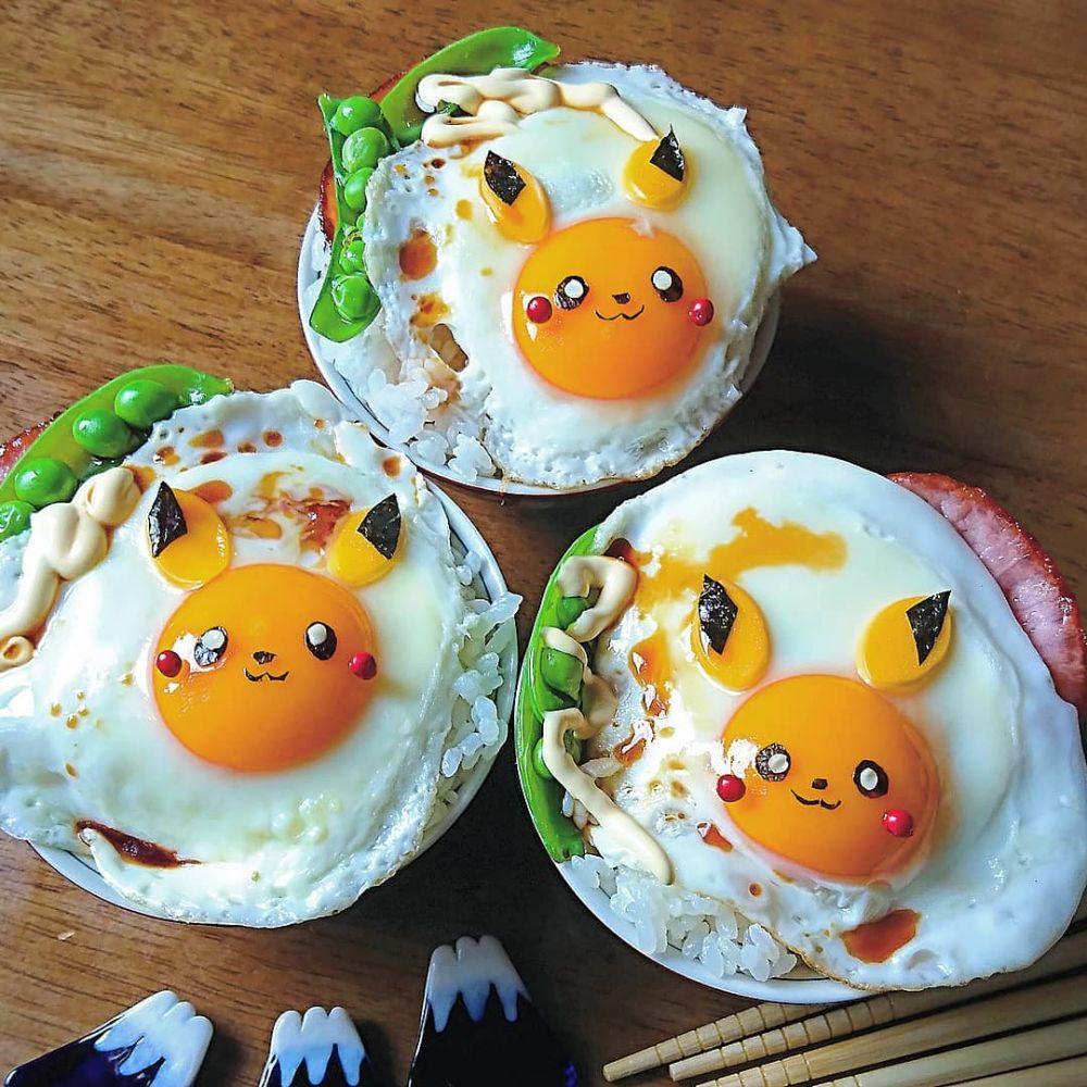 telur setengah matang © 2018 Instagram