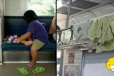 10 Kelakuan gokil penumpang KRL ini bikin kamu cekikikan geli sendiri