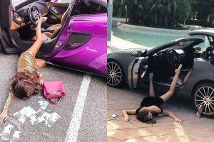 Tren selfie terbaru, ini 7 potret 'jatuh tersungkur' dari mobil mewah