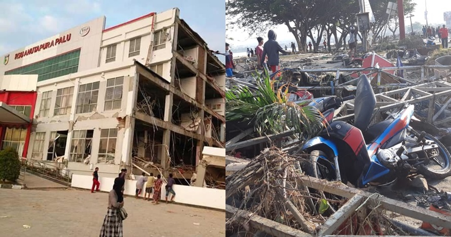 7 Potret kondisi pesisir pantai Palu usai tsunami, rata dengan tanah