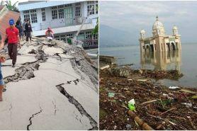 15 Potret memilukan kerusakan jalanan dan bangunan di Palu-Donggala