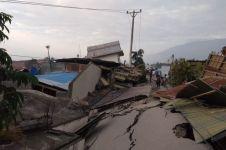 Detik-detik pergerakan tanah pasca gempa di Palu, bangunan bergeser