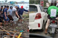 Aksi peduli driver ojek online bantu korban gempa Palu ini bikin salut
