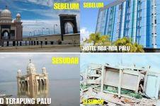 8 Potret kondisi kota Palu sebelum dan sesudah gempa, memprihatinkan