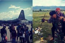 Gempa rusak runway, ini momen dramatis pesawat TNI AU landing di Palu