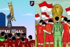 7 Kreasi unik dukungan untuk Timnas U-16 rebut tiket Piala Dunia U-17