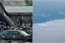 Momen tsunami Palu direkam dari kokpit Batik Air yang lolos dari gempa
