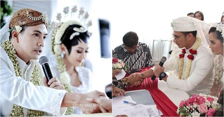 5 Foto beda gaya pernikahan Ardina Rasti dan Eza Gionino