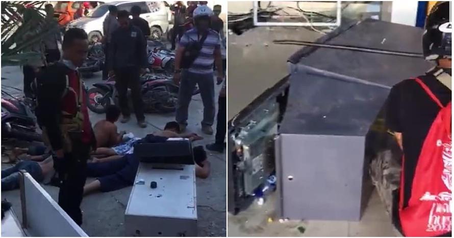 Penampakan oknum warga Palu yang bobol ATM usai gempa & tsunami