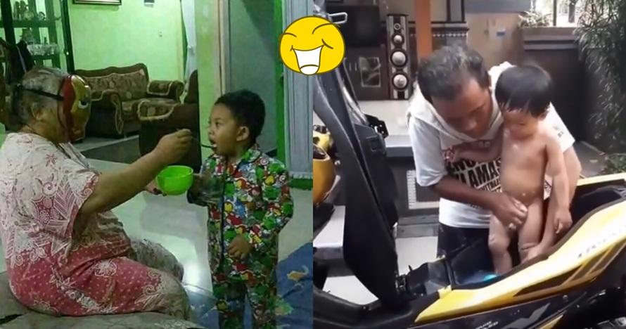 10 Cara nyeleneh orangtua asuh anak ini bikin senyum geleng-geleng