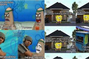 10 Meme karakter SpongeBob hidup di Indonesia bikin ketawa nyengir
