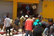 Penampakan penjarahan gudang minimarket di Palu usai gempa, miris