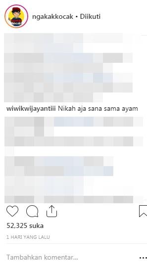komentar budget nikah Instagram