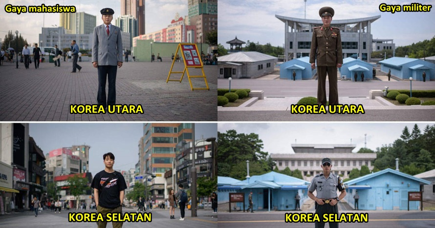 10 Beda gaya aktivitas sehari-hari warga Korea Selatan vs Korea Utara