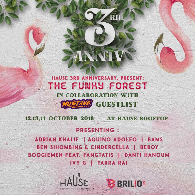 Ulang tahun ke-3, Hause Rooftop gelar acara bertemakan Funky Forest
