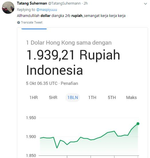meme dolar naik © 2018 berbagai sumber